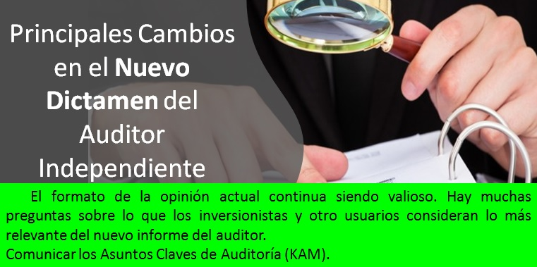 Cambios en el Dictamen del Auditor Independiente